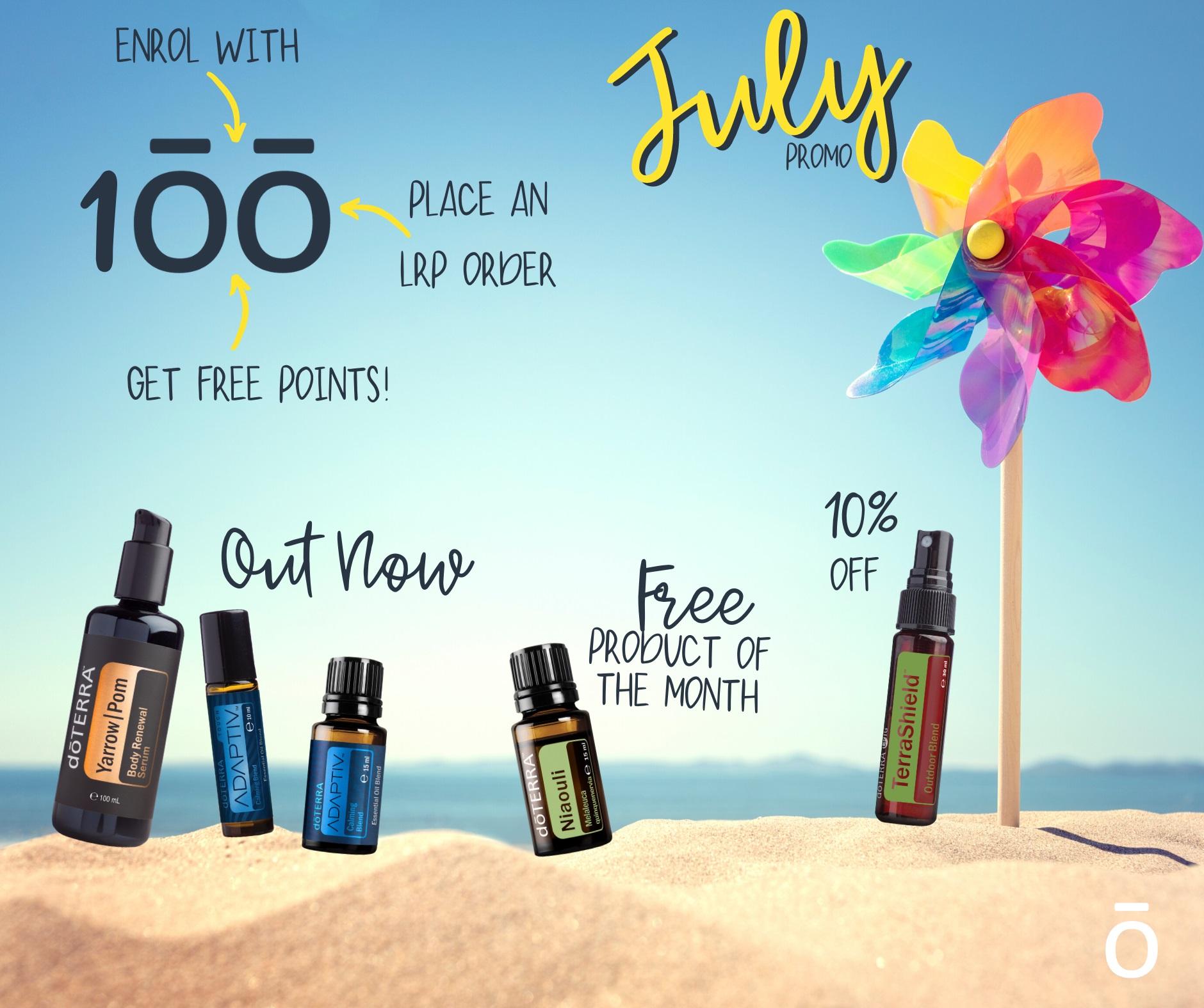 doterra oils July Promo